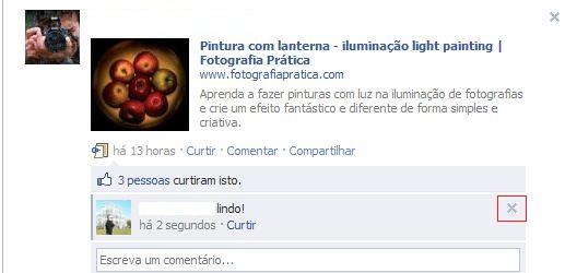 Editando seus comentários no Facebook (Foto: Reprodução)