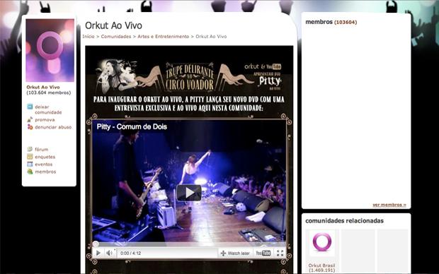 Orkut ao vivo (Foto: Reprodução)