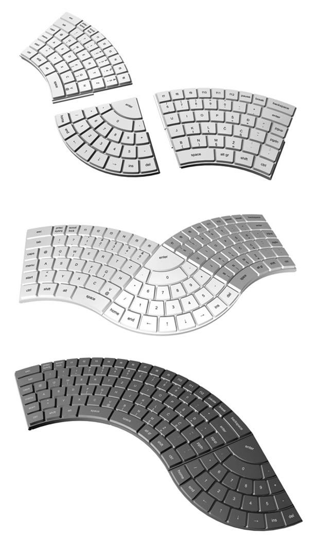 Teclado modular ergonômico, de  (Foto: Divulgação)