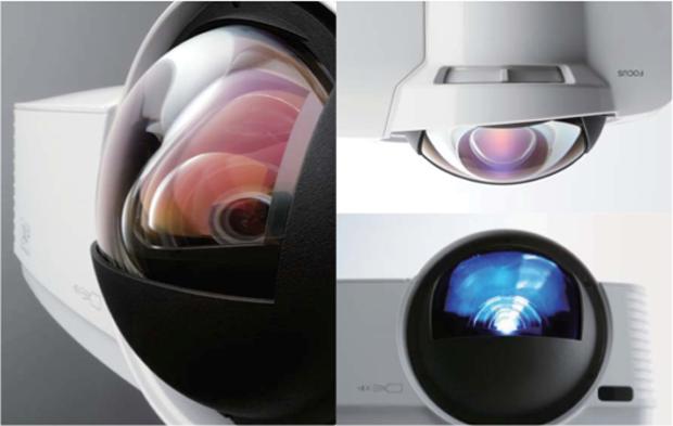 Detalhe da lente do projetor (Foto: Divulgação)