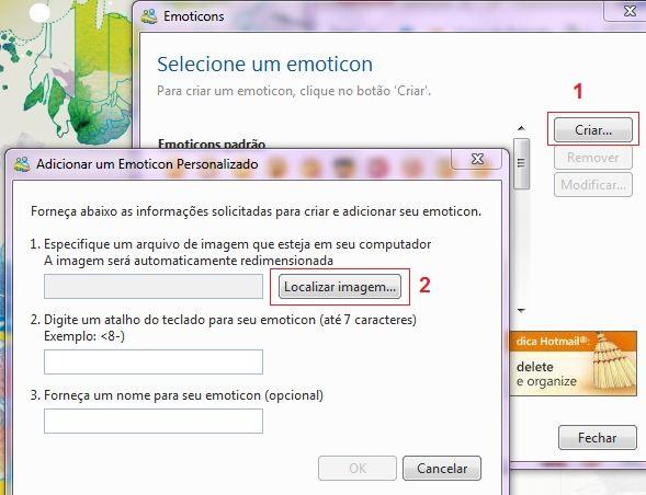 Inserindo o GIF animado no MSN (Foto: Reprodução)