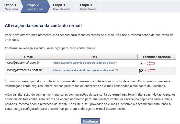 Alterando a senha da conta de e-mail (Foto: Reprodução)