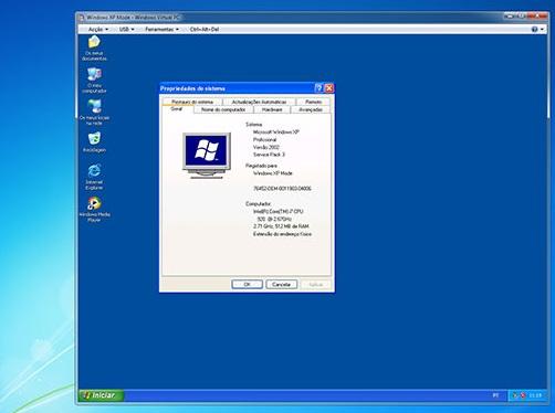 Windows XP Mode rodando no Windows 7 (Foto: Divulgação)