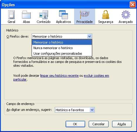 Configure o Firefox para apagar o histórico assim que você fechar o navegador (Foto: Divulgação)