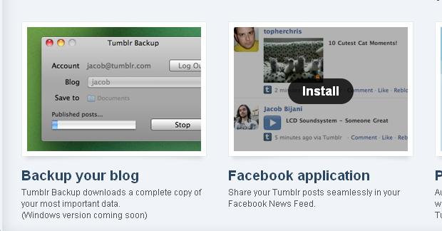 Integrando o Tumblr ao Facebook (Foto: Reprodução/TechTudo)