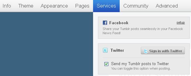 Integrando o Tumblr ao Twitter (Foto: Reprodução/TechTudo)