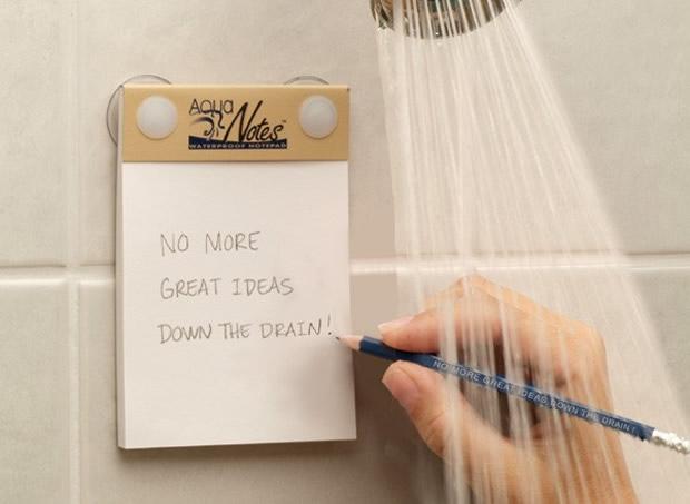 Faça anotações no banho com o AquaNotes (Foto: Divulgação)