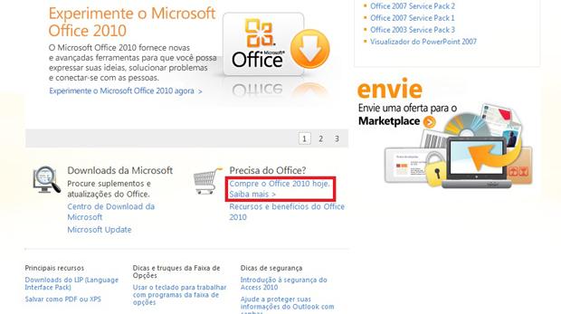 Comprando a licença do Microsoft Office (Foto: Reprodução)