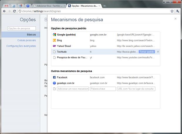 Opções do Google Chrome (Foto: Reprodução)