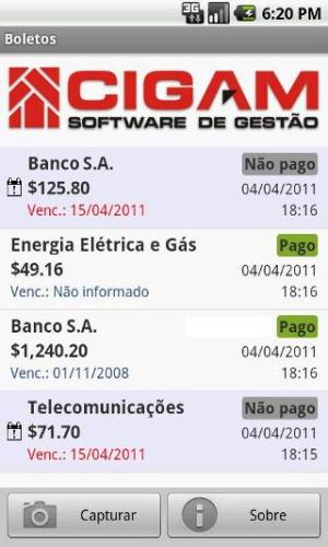 Gerenciando suas contas no celular (Foto: Divulgação)