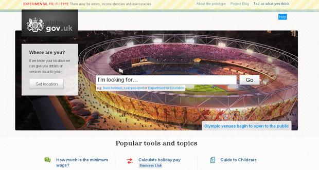 Site do governo britânico (Foto: Reprodução)