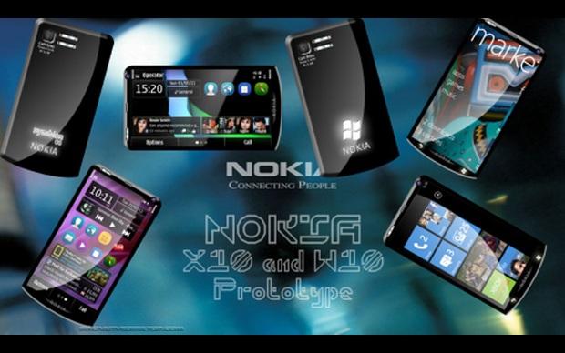 Nokia X10, smartphone conceito da Nokia. (Foto: Divulgação)