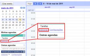 Criando uma nova agenda (Foto: Reprodução)