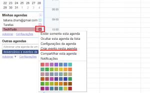 Criando evento no Google Agenda (Foto: Reprodução)