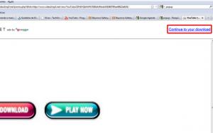 """Clique em """"Continue to your Download"""" (Foto: Reprodução)"""