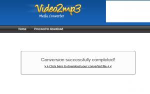"""Clique em """"Click here to download your converted file"""" e baixe o arquivo (Foto: Reprodução)"""