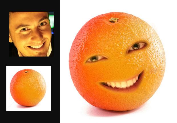 Transforme-se em um personagem da Annoying Orange (Foto: Luanda Pereira)