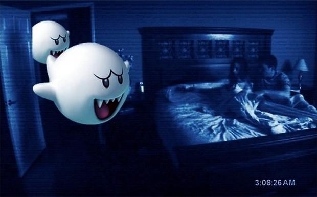 Atividade Paranormal com Mario (Foto: Reprodução)