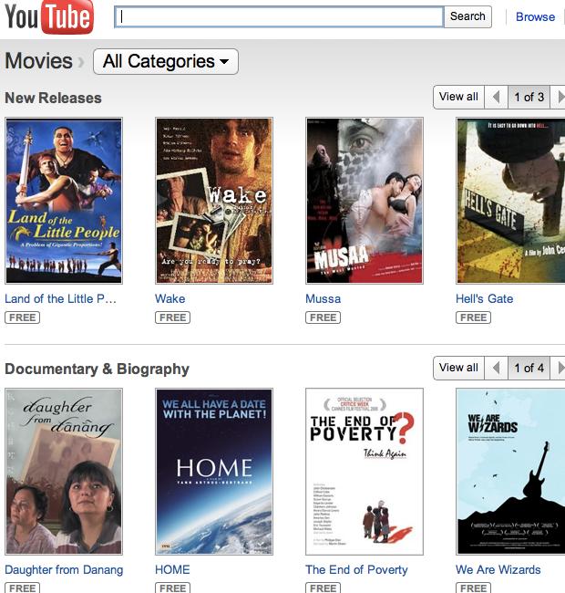 Assista filmes do Youtube no iPad, iPhone e iPod. (Foto: Reprodução/ Youtube)