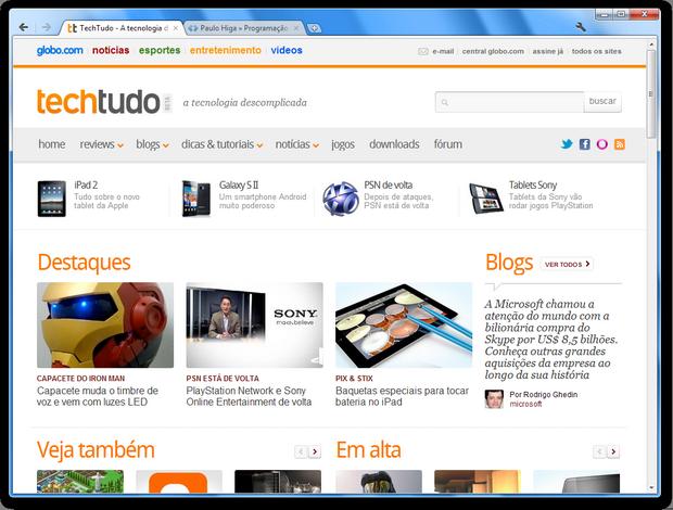 Chrome com interface minimalista (Foto: Reprodução)