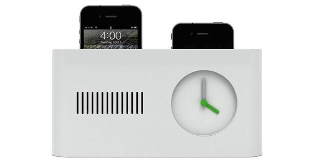 """Dock para iPhone com """"cara"""" de despertador (Foto: Divulgação)"""