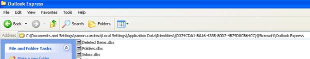 Itens excluídos do Outlook Express (Foto: Reprodução/TechTudo)