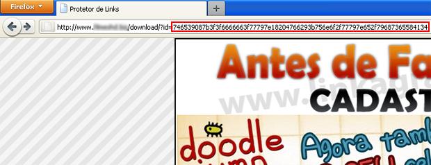 Link criptografado (Foto: Reprodução/TechTudo)