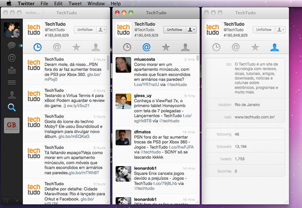 Twitter no Mac (Foto: Reprodução)
