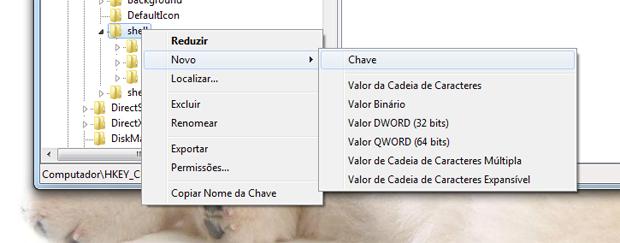Painel de controle no menu do mouse (Foto: Reprodução/TechTudo)