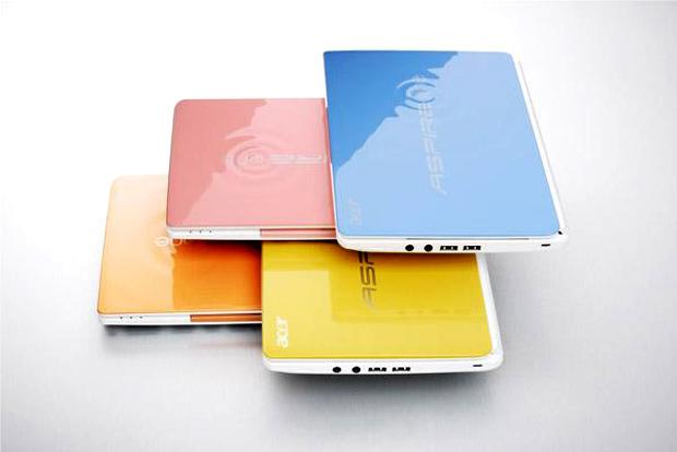 Notebooks coloridos da Acer (Foto: Divulgação)