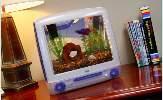 Mac tranformado em aquário (Foto: Divulgação)