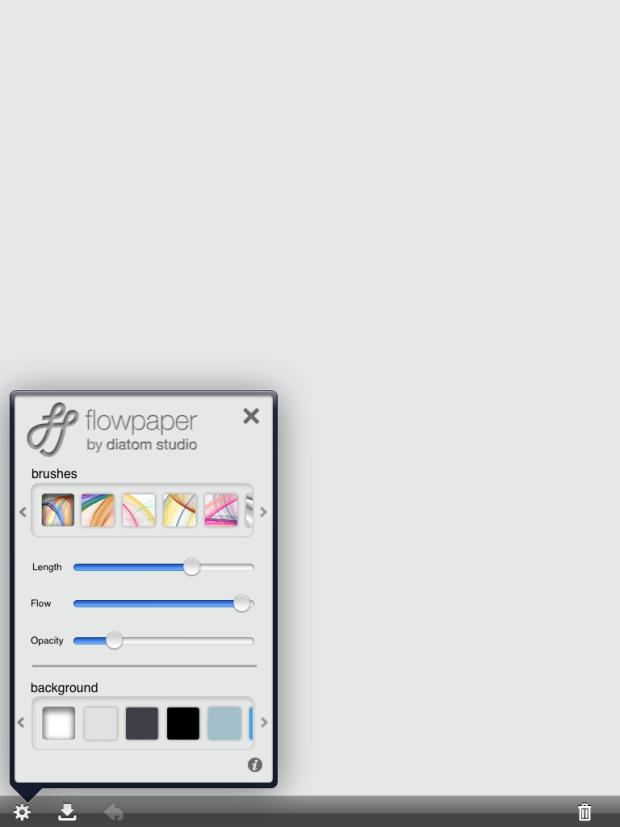 Opções de pincéis do Flowpaper (Foto: Reprodução/Camila Porto)