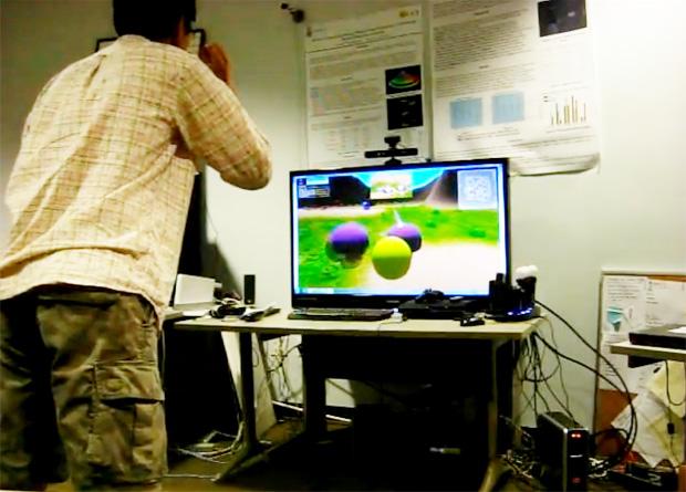 Pacman em 3D e controlado pelo Kinect (Foto: Divulgação)