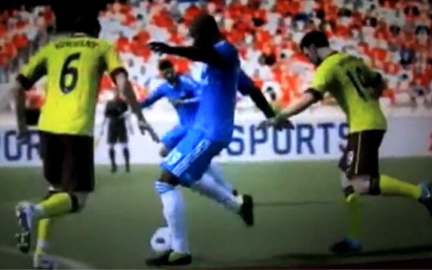 Vídeo mostra nova jogabilidade de FIFA 12 (Foto: Reprodução)