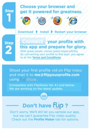 Flip Your Profile (Foto: Reprodução)