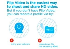 Selecione qual vídeo será usado: um novo, gravado na webcam, ou um já gravado no computador? (Foto: Reprodução)