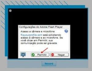 Autorizando o acesso a sua webcam (Foto: Reprodução)