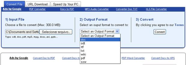 Convertendo docx para doc (Foto: Reprodução/TechTudo)