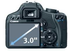 Canon XSi lcd (Foto: Divulgação)