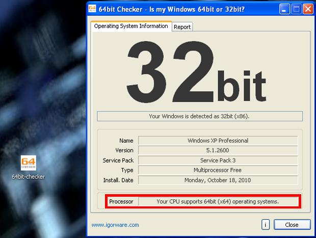 Processador suporta 64 bits (Foto: Reprodução/TechTudo)