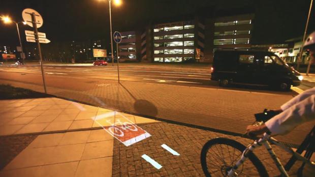 Projetor na bicicleta (Foto: Divulgação)