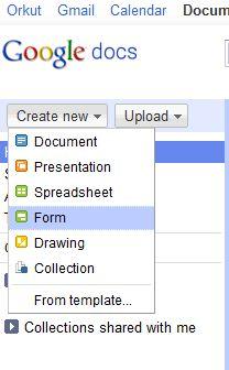 Criando um novo formulário (Foto: Reprodução)