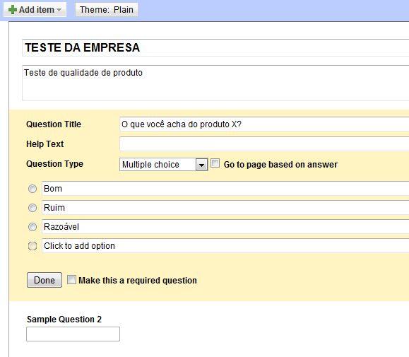 Informações do formulário (Foto: Reprodução)