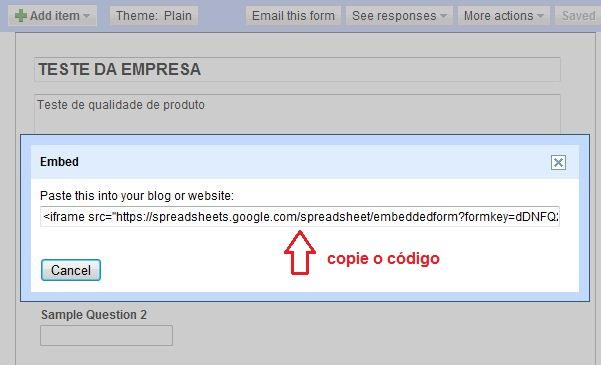 Copiando o código para o Fan Page (Foto: Reprodução)