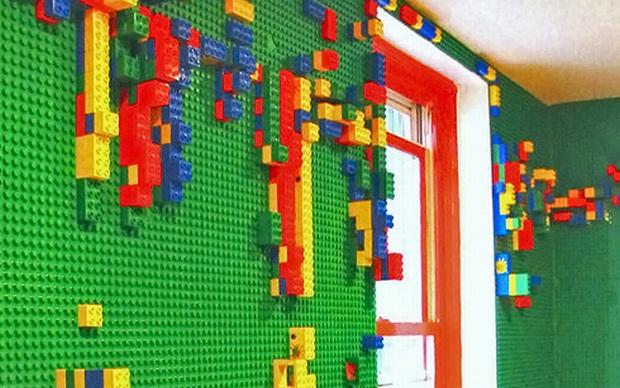 Parede feita de LEGO (Foto: Divulgação)
