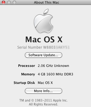 Número de série do Mac (Foto: Reprodução/Helito Bijora)
