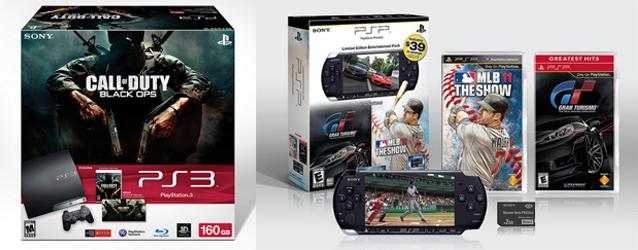 PlayStation 3 com Call of Duty: Black Ops e PSP com MLB 11: The Show e Gran Turismo (Foto: GameInformer)