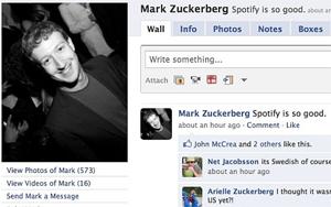 Facebook com Spotify? (Foto: Reprodução)