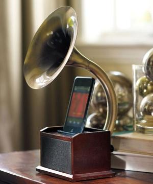 Dock de gramofone para iPhone (Foto: Divulgação)