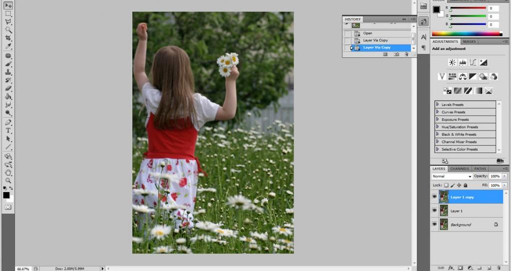 Imagem e layer duplicada duas vezes (Foto: Reprodução)